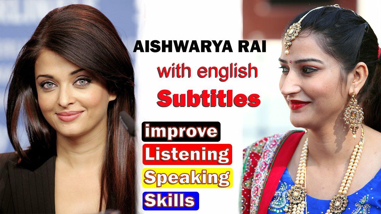 ENGLISH SPEECH   AISHWARYA RAI BACHCHAN: Bring a Smile englsih with roop