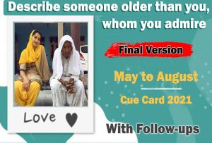 Describe someone older than you whom you admire