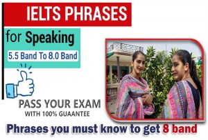 IELTS Speaking Phrases you must know to get 8 band
