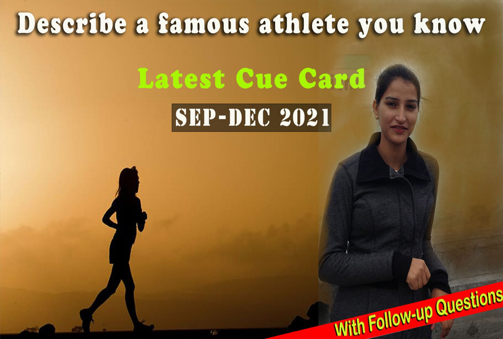 Describe a famous athlete you know Cue Card | Sep-Dec 2021